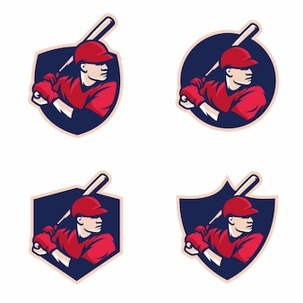 Logotipo deportivo bat de béisbol