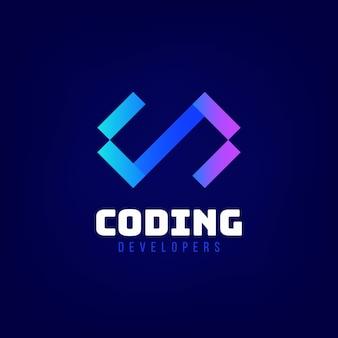 Logotipo de desarrolladores de codificación degradada