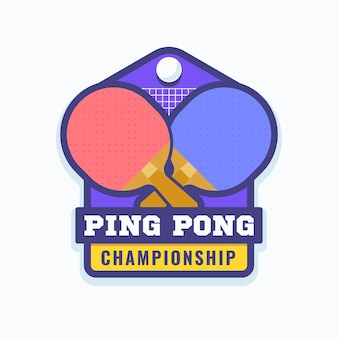 Logotipo detallado de tenis de mesa
