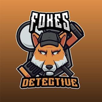 Logotipo de detective de zorros