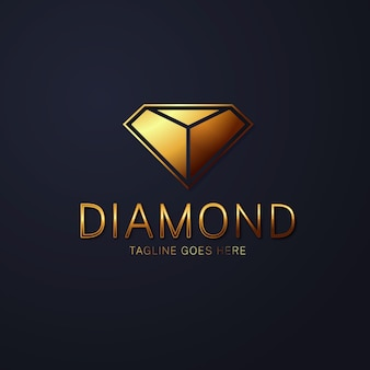Logotipo de diamante elegante