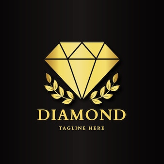 Logotipo de diamante elegante