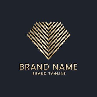 Logotipo de diamantes de estilo elegante