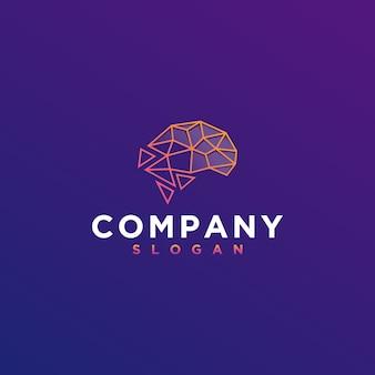 Logotipo digital del cerebro