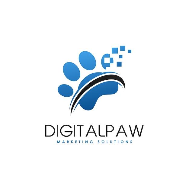 Logotipo digital de la pata