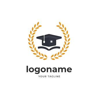 Logotipo del diploma universitario inspiración del diseño del campus para el instituto de educación