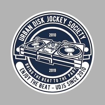 Logotipo de disc jockey society