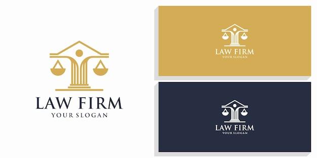 Logotipo de diseño de abogados y firmas