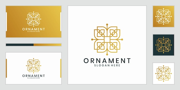 Logotipo de diseño de adorno de lujo que inspira