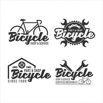 Logotipo de diseño certificado de mecánica de bicicletas