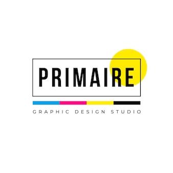 Logotipo de diseño colorido creativo