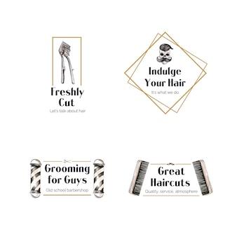 Logotipo con diseño de concepto de peluquero para la marca.