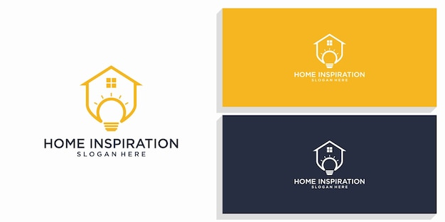 Logotipo de diseño de inspiración para el hogar