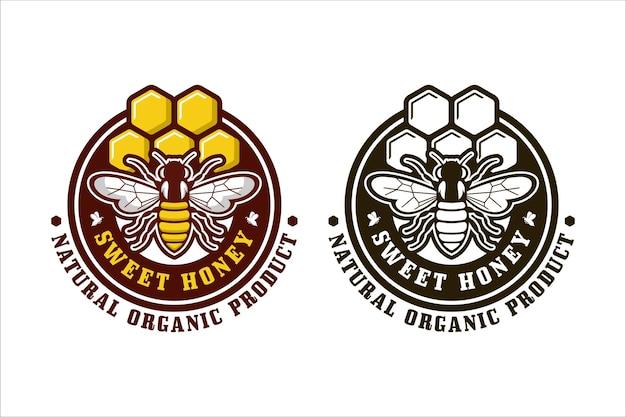 Logotipo de diseño de miel dulce