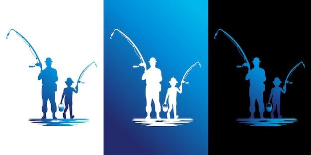 Logotipo de diseño de pesca de vacaciones