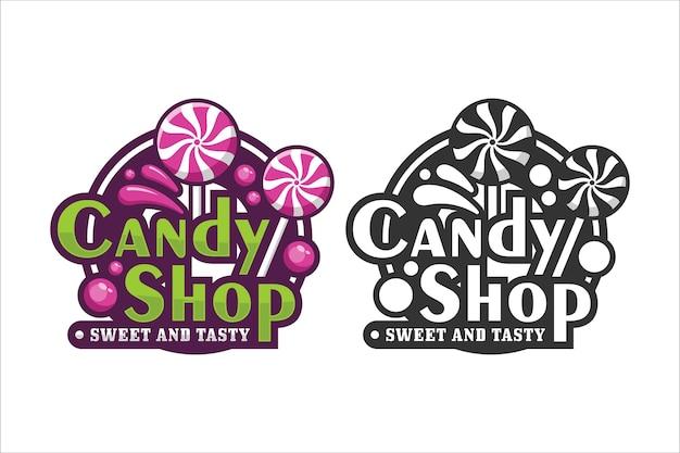 Logotipo de diseño de tienda de dulces