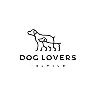 Logotipo de dos perros amantes