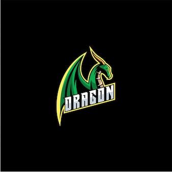 Logotipo de dragon e sport.