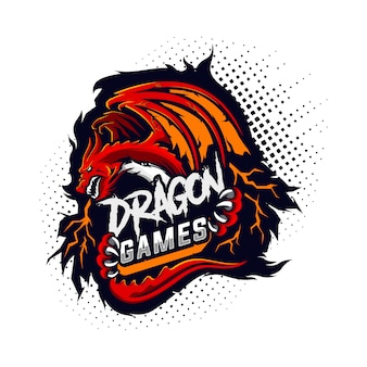 Logotipo de dragon gaming