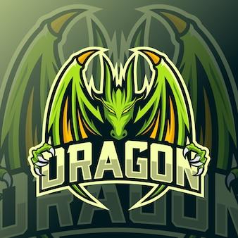 Logotipo de dragón mascota esport