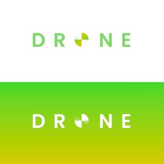 Logotipo de drone degradado