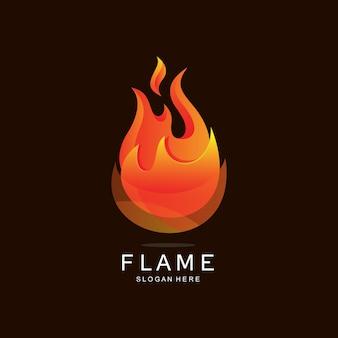 Logotipo e ilustración de fuego