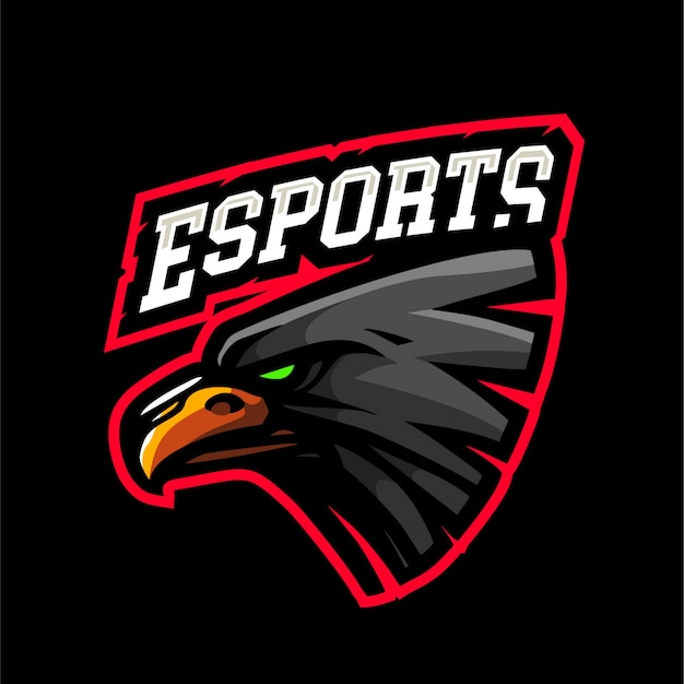 Logotipo de e-sport eagle negro