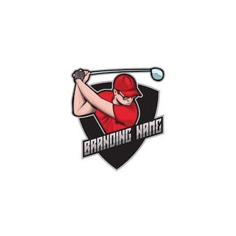 Logotipo de e-sport golf