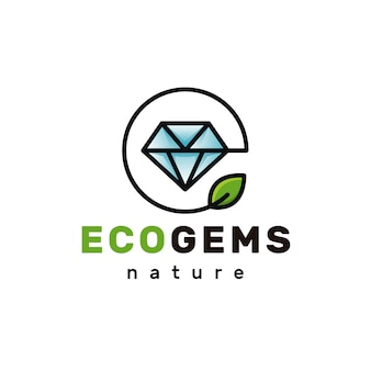 Logotipo de eco diamante