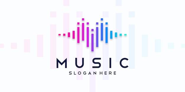 Logotipo de ecualizador de música. icono de audio electrónico.