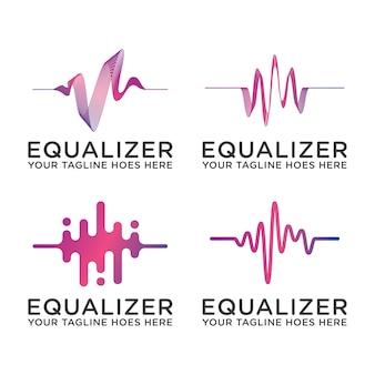 Logotipo de ecualizador de sonido musical