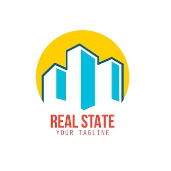 Logotipo con edificios