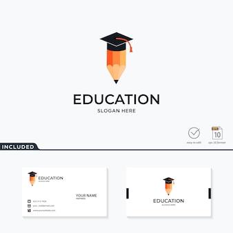 Logotipo de educación inspiración