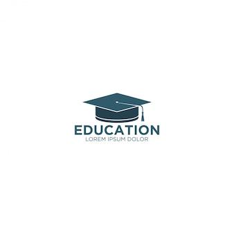 Logotipo de educación - toga hat