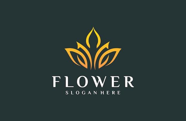 Logotipo elegante flores