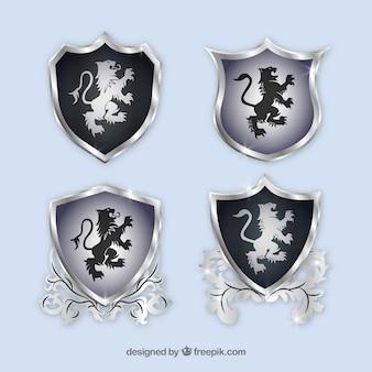 Logotipo de elementos heráldicos del diseño