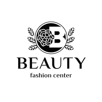 Logotipo de emblema de belleza de letra b