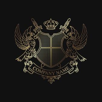 Logotipo del emblema de la cresta