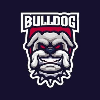Logotipo del emblema del equipo bulldog esport