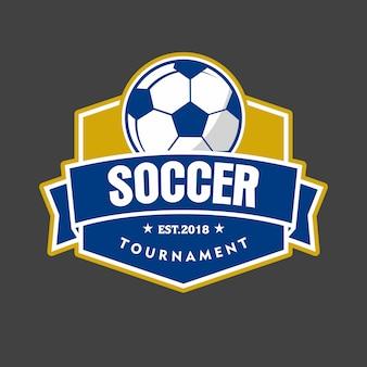 Logotipo de emblema de fútbol