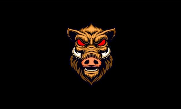 Logotipo de emblema de jabalí