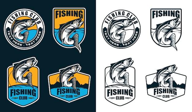 Logotipo del emblema de pesca