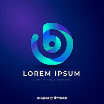Logotipo de empresa abstracta gradiente