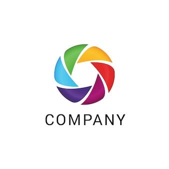 Logotipo de empresa abstracta