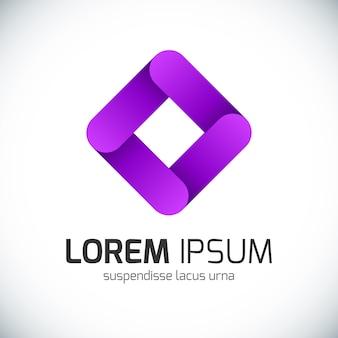 Logotipo de empresa abstracta.