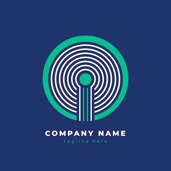 Logotipo de empresa abstracto