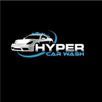 Logotipo de la empresa automotriz lavado de autos