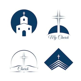 Logotipo de la empresa comercial de la iglesia