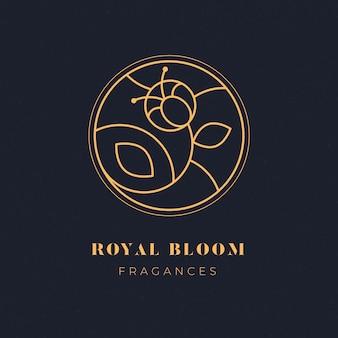 Logotipo de la empresa comercial de lujo floral