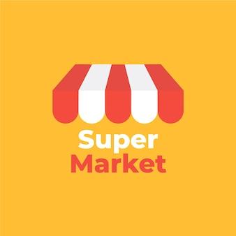 Logotipo de la empresa comercial del mercado callejero